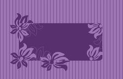 Frame voor tekst met bloemenornament Royalty-vrije Stock Fotografie