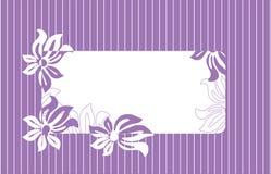 Frame voor tekst met bloemenornament Stock Afbeelding