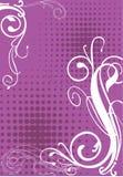 Frame voor tekst met bloemenornament. Stock Foto