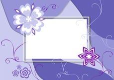 Frame voor uw tekst die met bloemen wordt verfraaid stock illustratie