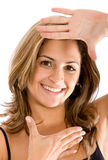 Frame vrouwengezicht Royalty-vrije Stock Afbeeldingen