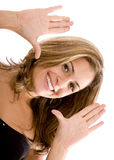 Frame vrouwengezicht Royalty-vrije Stock Afbeelding
