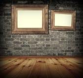 Frame on the wall. Stock Photos