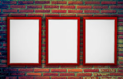 Frame with wall Stock Images