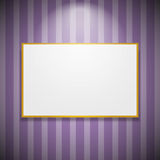Frame on the wall Royalty Free Stock Photos