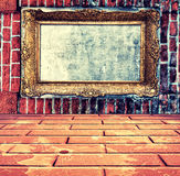 Frame in wall Royalty Free Stock Photos