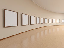 Frame on the wall of the exhibition hall Royalty Free Stock Photography