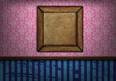 Frame on the wall in a room vintage Royalty Free Stock Image