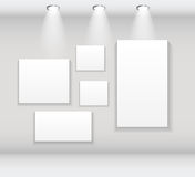 Frame on Wall for Your Text and Images, Vector Illustration Royalty Free Stock Photo