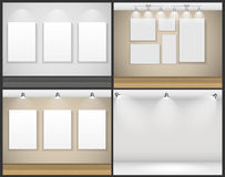 Frame on Wall for Your Text and Images, Vector Royalty Free Stock Images