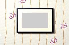 Frame on wallpaper 01 Royalty Free Stock Image