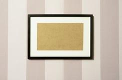 Frame on wallpaper 03 Stock Photos