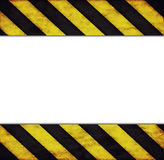Frame with warning stripes Royalty Free Stock Images