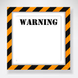 Frame warning text Stock Photos