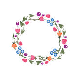 Frame of watercolor flowers made in vector Stock Photo