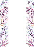 Frame With Watercolor Leaves in Pastel Colors vector illustration
