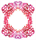 Frame with watercolor Ornamental floral background.Vector illust Stock Image