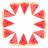 Frame of watermelon slices Royalty Free Stock Image