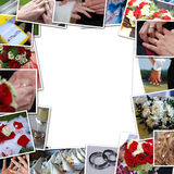 Frame of wedding photos. Frame of wedding pictures, pictures with the bride and groom Royalty Free Stock Photos