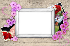 Frame of wedding photos. Frame of wedding pictures, pictures with the bride and groom Royalty Free Stock Photo