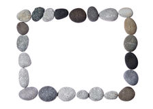 Frame on a white background with stones Stock Photos
