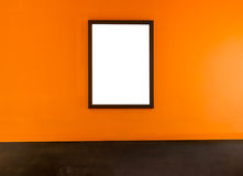 The frame of white color on orange color. Royalty Free Stock Image