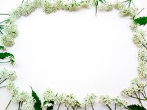 Frame of white colors on a white background stock photo