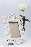 Frame with white flowers Stock Image
