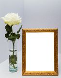 Frame with white flowers Royalty Free Stock Photos