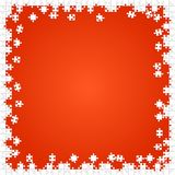 Frame White Puzzles Pieces Orange - Vector Jigsaw Stock Images