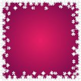 Frame White Puzzles Pieces Pink - Vector Jigsaw Stock Photos