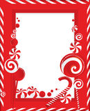 Frame of white-red striped Stock Photo