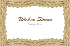 Frame of wicker straw. royalty free stock photography