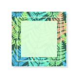 Frame with fern. Frame with wild fern. Bright wood decoration. Applicable in various areas of design Royalty Free Stock Photo