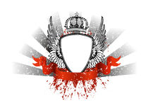 Frame with wings and crown. Vector image frame with wings and crown Royalty Free Stock Images