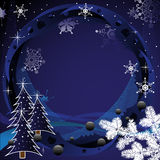 Frame for winter holidays Royalty Free Stock Photos