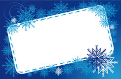 Frame winter snowflakes Stock Photography