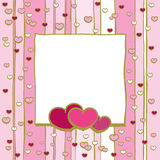 Frame With Hearts Royalty Free Stock Image