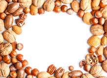 Frame With Nuts Stock Photos