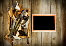 Free Frame With Old Tools (scissors, Pliers, Saw And Royalty Free Stock Photos - 51538418