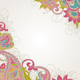 Frame With Paisley Stock Photos