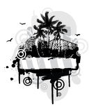 Frame With Palm Trees Royalty Free Stock Photos