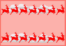 Free Frame With Reindeers Stock Photos - 1515153
