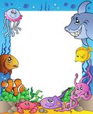 Frame With Sea Fishes 1 Stock Images