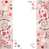 Frame With Stylized Hearts Stock Photos