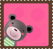 Frame With Teddy Bear Royalty Free Stock Images