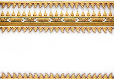 Frame With Thai Art Wall Pattern Stock Photo