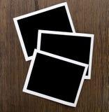 Frame on wood Stock Image