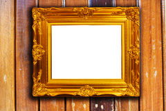 Frame on wood Royalty Free Stock Image