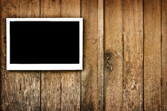 Frame on wood Royalty Free Stock Photos